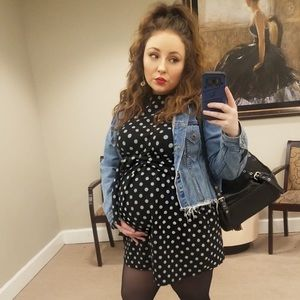 Boohoo | Maternity Black Polka Dot Tunic